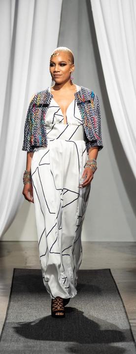 Cotton Tweed Jacket, Silk Maxi
