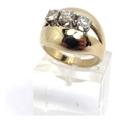 EXCLUSIVA ALHAJA- BELLO ANILLO DE ORO 18 KT COLOR BLANCO Y BRILLANTES
