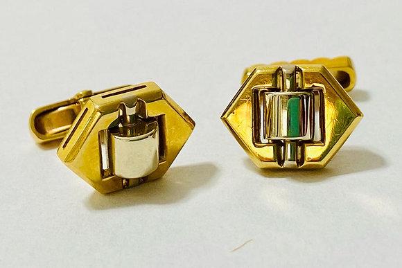 Gemelos Oro 18kt. Oro Amarillo y Oro Blanco.