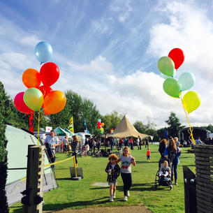 Outdoor party balloons