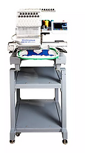Compact embroidery machine, commercial embroidery machine, gemxl1500/510, meistergram embroidery machine