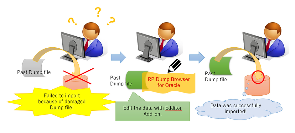 Case 5 : Image of extracting damaged Dump file utilizing Editor Add-on