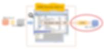 通过RP Dump Browser for Oracle 读入的Dump文件,通过ODBC导出(登录,迁移)到 MySQL, DB2 等 Database的 示意图