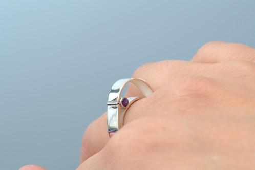 Amethyst Curve Ring_2