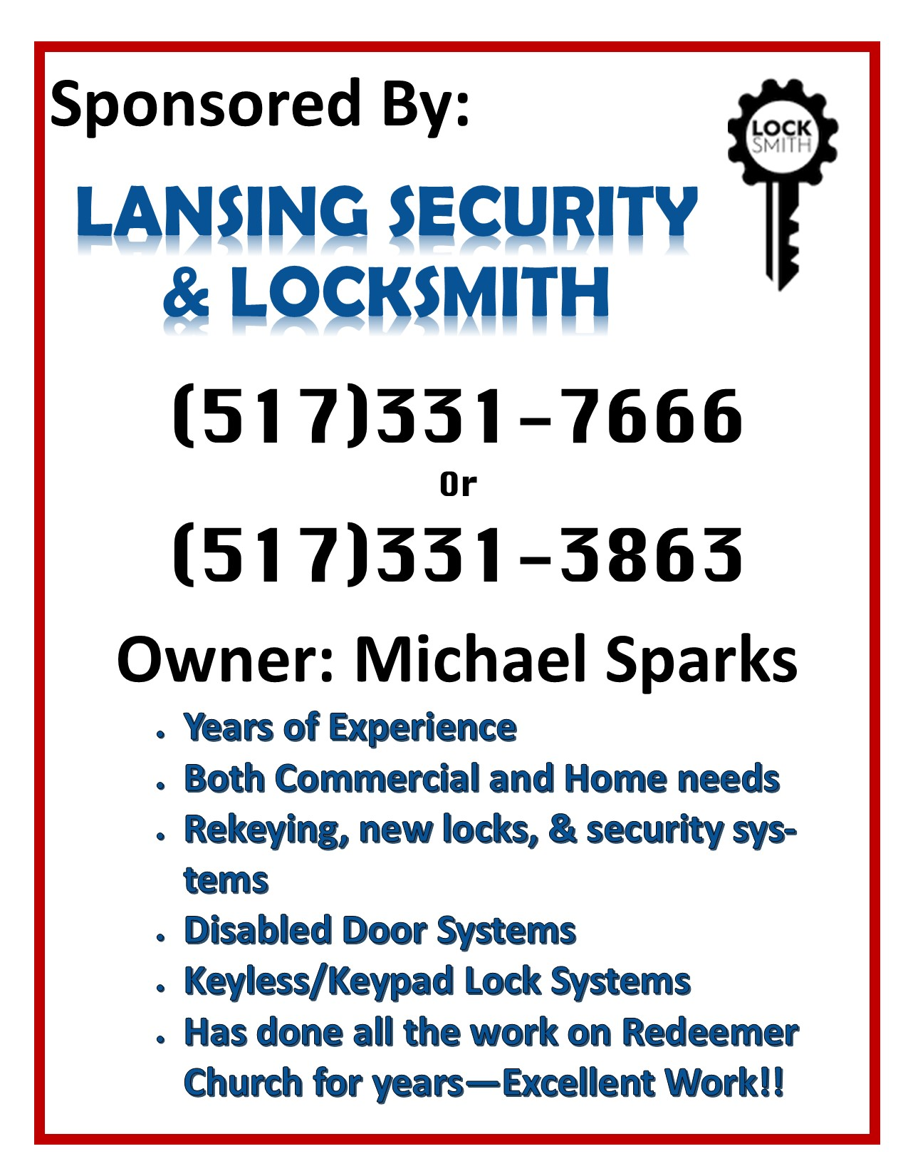 Lansing Security Locks