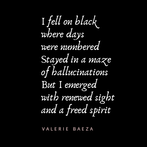 Black Days Renewed Sight by Valerie Baeza