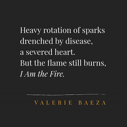 I Am the Fire by Valerie Baeza