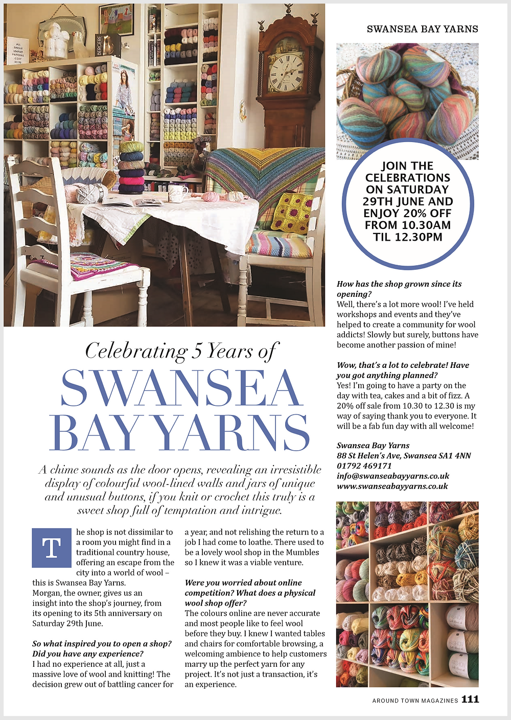 Swansea Bay Yarns - Around Town Interview