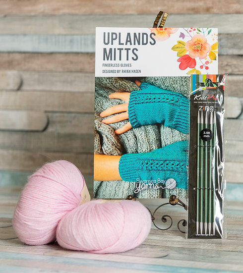SBY 'Uplands Mitts' Knitting Pack - Caille