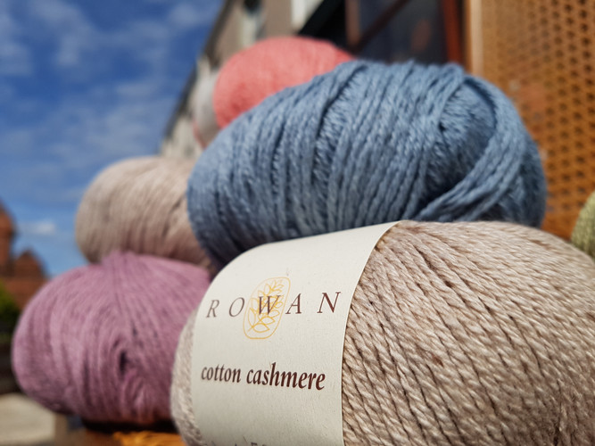 Rowan Cotton Cashmere yarns
