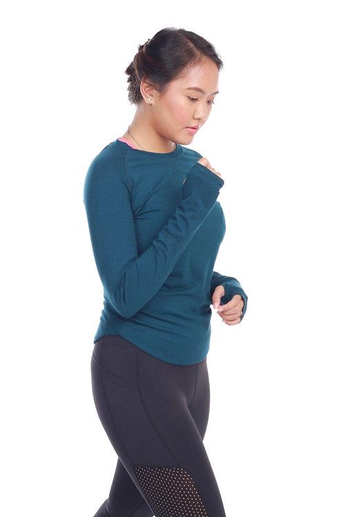 Alisa Long Sleeve Top in Green