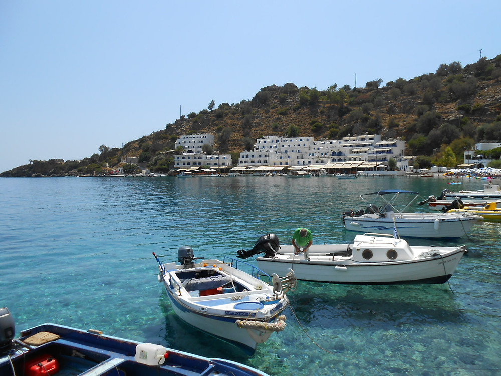 view of Loutro from taverna