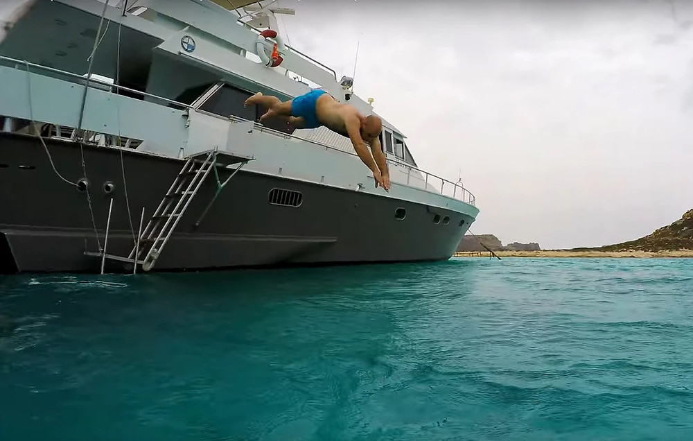 day trip to Balos with 19m private yacht