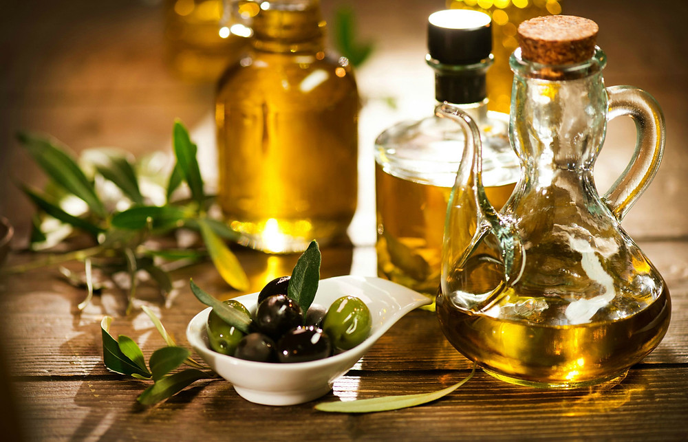 Olives and olive oil cold pressed