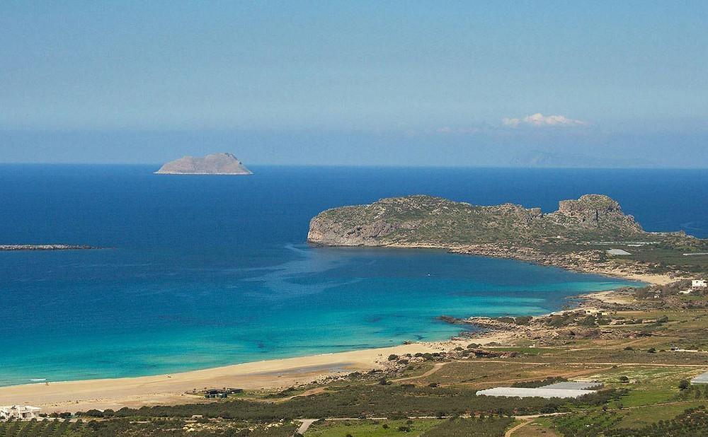 falassarna beach from above