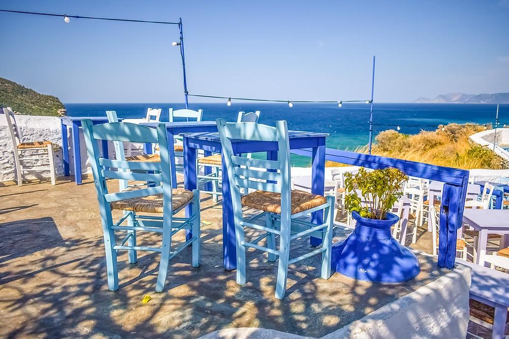 Greek tavern on zorba beach