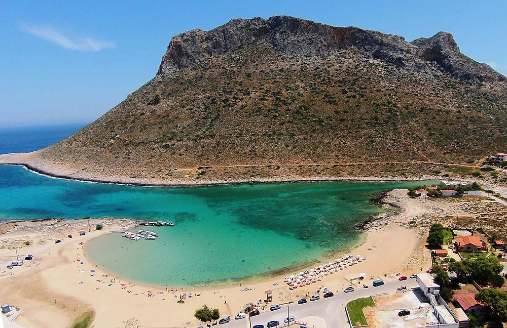 Zorba the greek beach from above