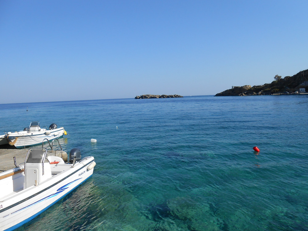view from Loutro shore