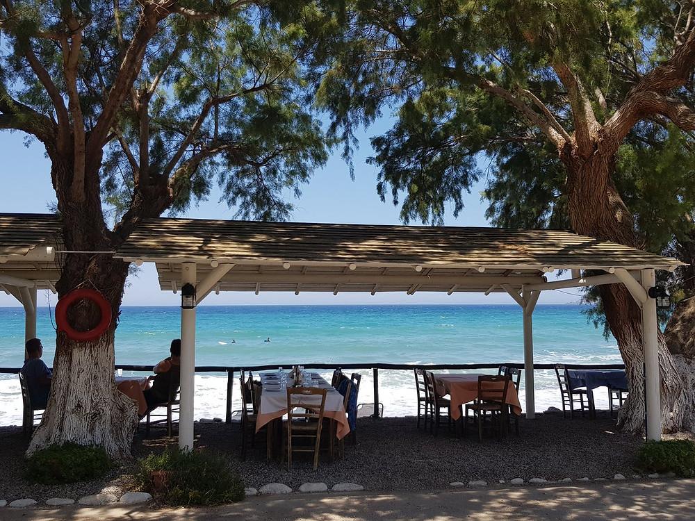 restaurant at sfinari beach