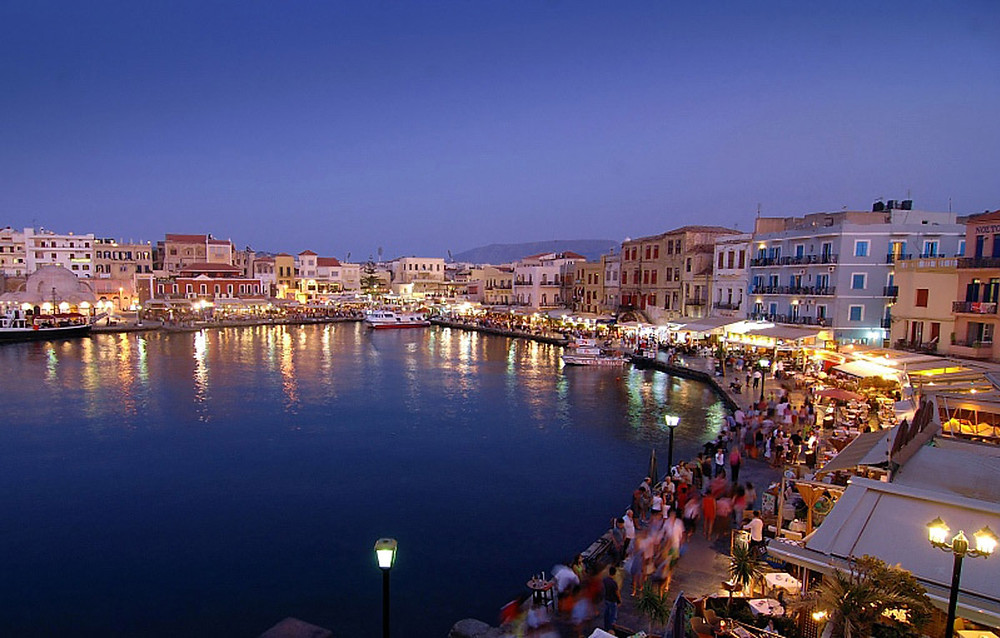 walking on the waterfront chania old harbor