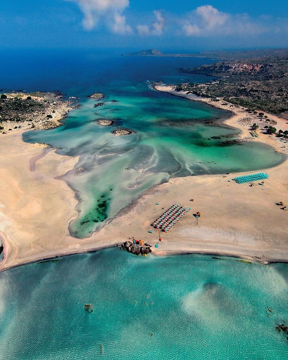 Elafonissi island from above