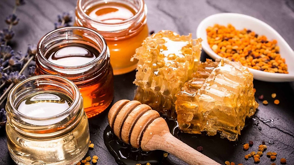 honey products pollen honeycomb wax royal jelly
