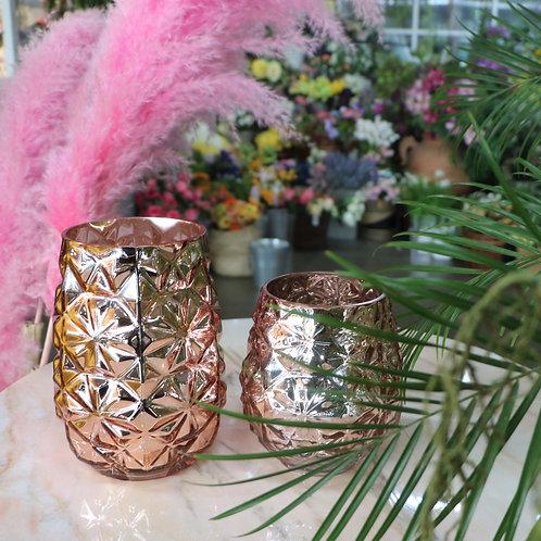 ROSE GOLD GLASS BOTTLE - pineapple