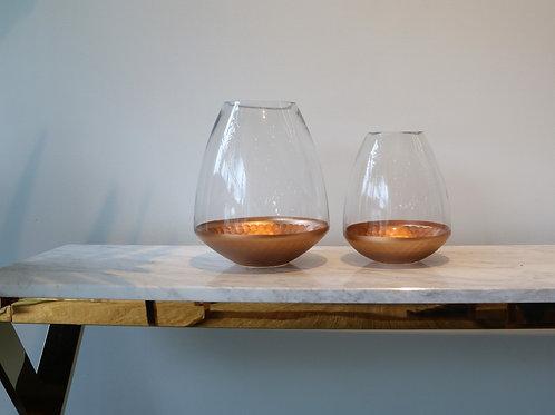 BRONZE TRAY GLASS BOTTLE