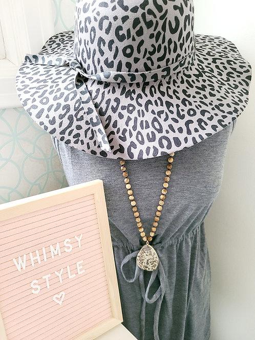 Whimsy Felt Floppy Animal Print Hat