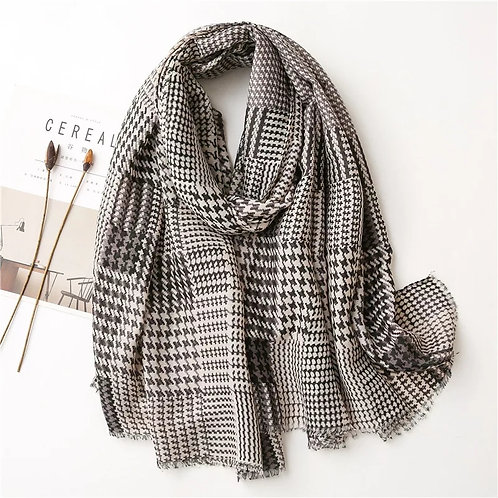 Classic Whimsy Houndstooth Scarf