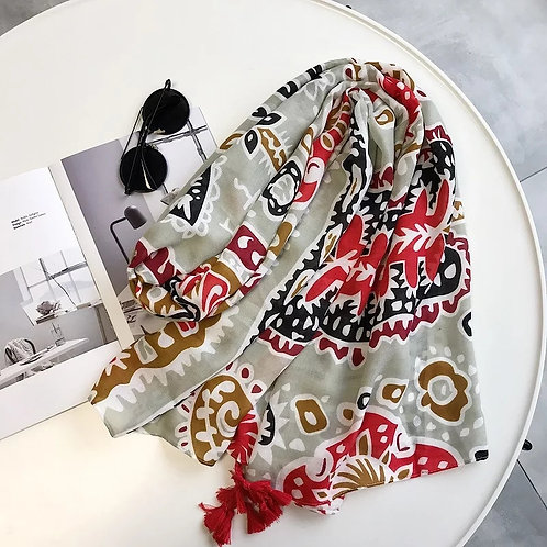 Stunning Bold Statement ~Whimsy~ Scarf with Tassels
