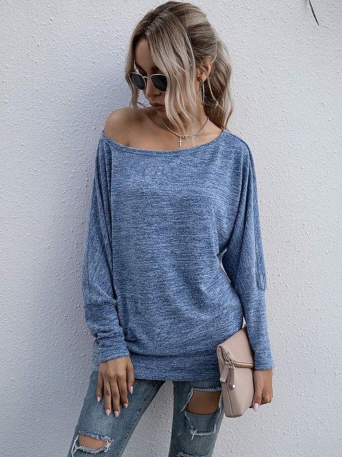 Long Sleeve Soft & Cozy Blue Shirt