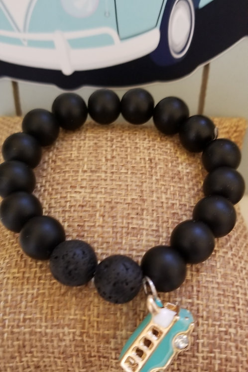 Whimsy 🌸 My Tribe 🌸 Black Lava Essential Oil Bracelet
