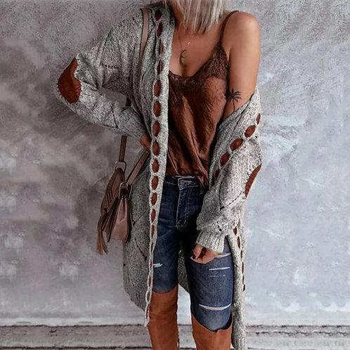 "Grey ""Weekender"" Sweater Coat with Hood ♡ BoHo Chic"