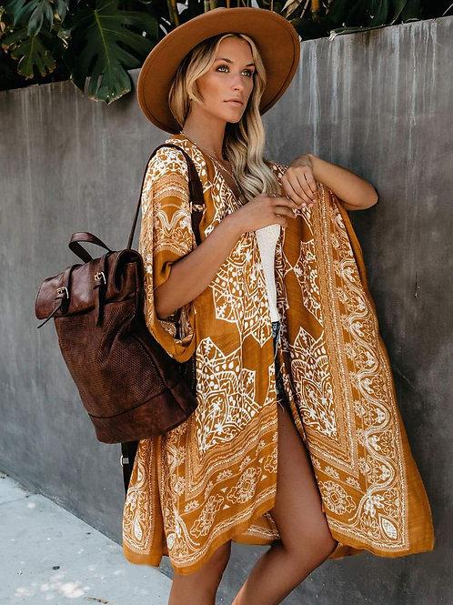 """""""Sun Kissed Gold"""" BoHo Kimono (One Size)"""