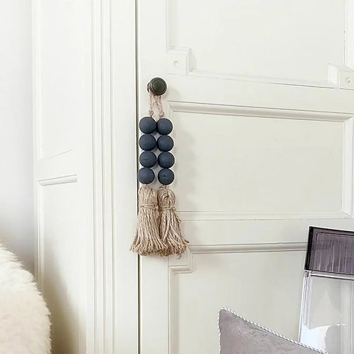 Farmhouse Decorative Bead w/Tassel Room Accessory