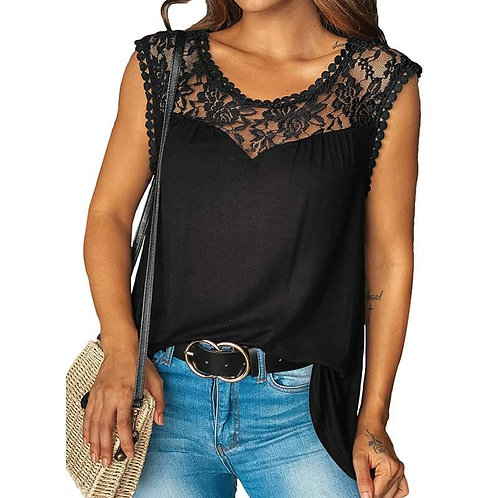 """""""Molly"""" Flattering Tank with Lace"""