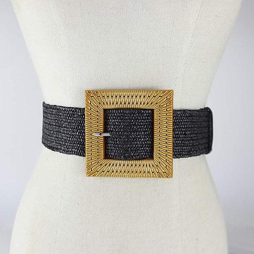 BLACK Big Buckle Fashion Belt