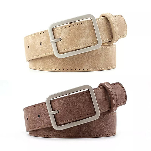Suede Feel Ladies Belt CAMEL Colour (top in photo)