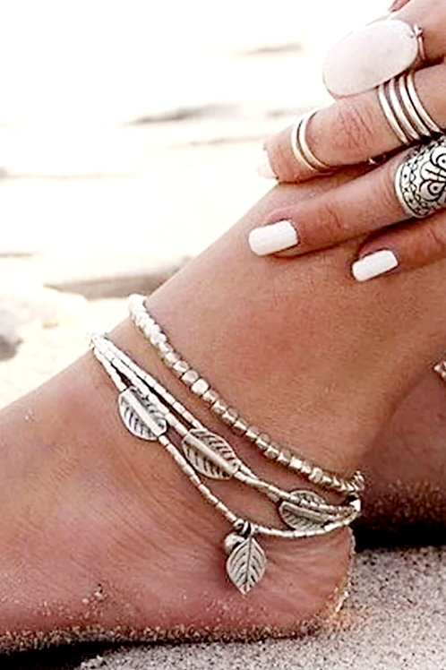 Multi Layer BoHo Chic (2 piece) Anklet