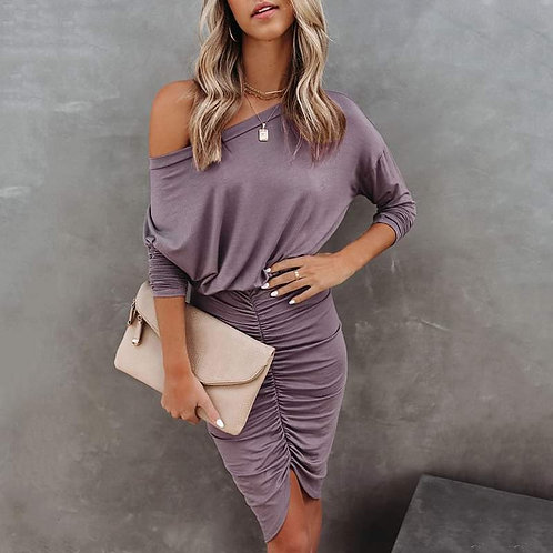 Stunning Casual and Sexy Plum Dress