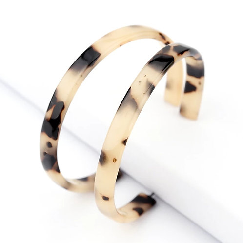 Trendy Leopard Alloy Acetate Earrings