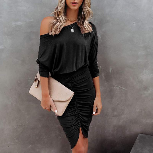 Stunning Casual and Sexy Jet Black Dress