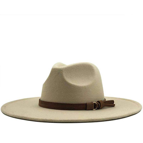 """BETH"" Large Brim Festival Hat (Cream) BoHo Chic"