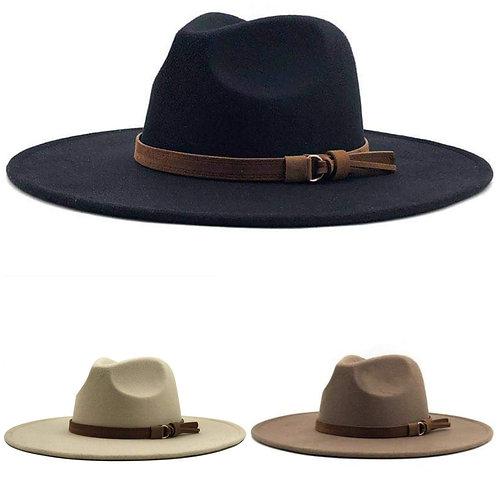 """BETH"" Large Brim Festival Hat (Black) BoHo Chic"