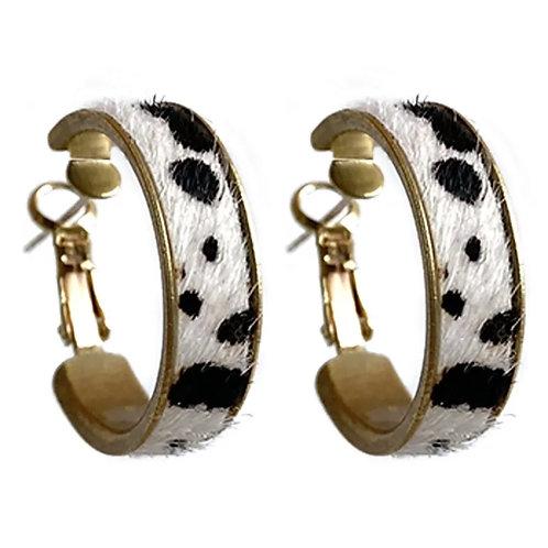 Whimsy BoHo Vibe Cow Print Earrings