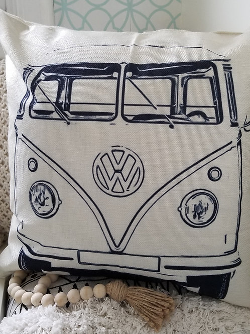 Whimsy Home Pillow Cover VW Bus