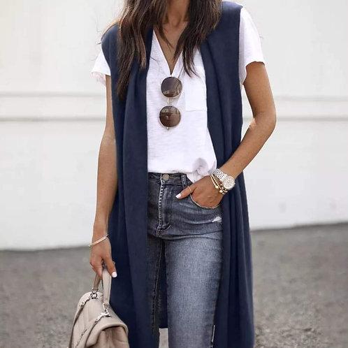 Lightweight Cotton/Poly Medium Blue Vest
