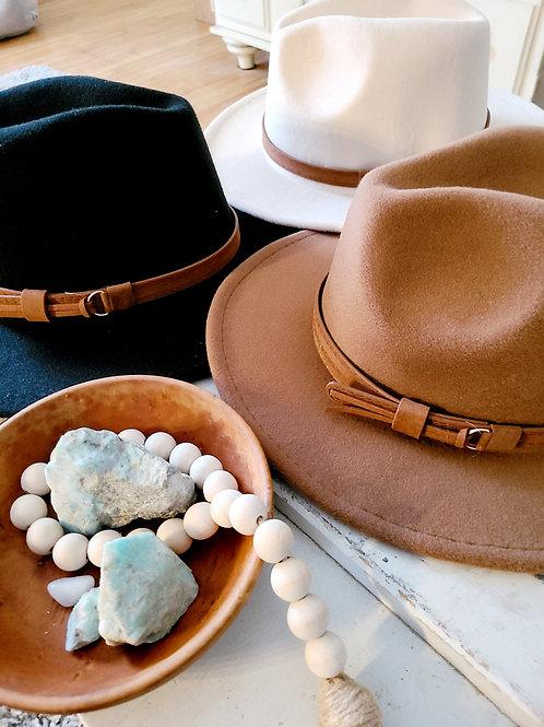 """BETH"" Large Brim Festival Hat (Chestnut Brown) BoHo Chic"