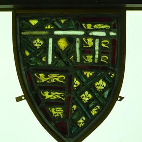 North transept window (nVll): shield A4